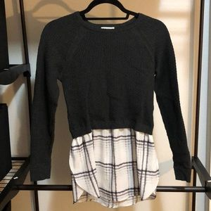 Sweater with Blouse